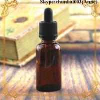 Buy cheap 50ml glass dropper bottle amber e-juice bottle child safety cap trade assurance product