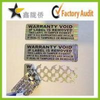 Buy cheap Tamper evident holographic label / Security Hologram VOID sticker product