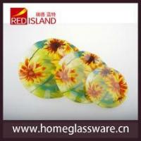 Buy cheap Daisy design wave shape glass round plate product