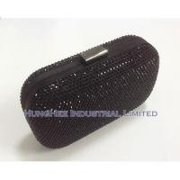 Buy cheap Luxury Crystal Evening Bags with Black Satin and Black Crystal HHJ-506 from Wholesalers