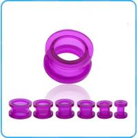 Buy cheap TP02037 Hot Selling Acrylic Tunnels Transparent Purple Ear Tunnels Fashion Body Jewelry product