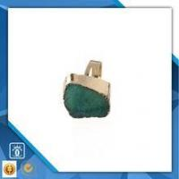 Buy cheap 18k gold plate copper ring, natural druzy gemstone jewelry, german jewelry wholesale product