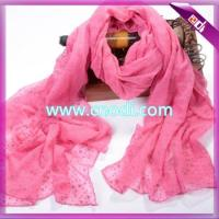 Buy cheap Flocking Polyester Scarf from wholesalers