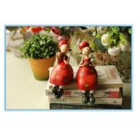 Buy cheap polyresin girls smile with red apple product