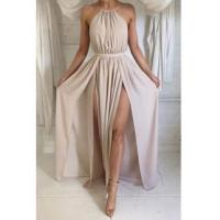 Buy cheap Halter Front Spilt Backless Evening Gowns Sexy 2016 Summer Party DressesItem Code: BA2735 from Wholesalers