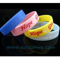 Buy cheap high quality debossed filled color silicone band product
