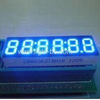 Buy cheap Ultra bright blue 0.36 inch 6 digit common anode seven segment led display product