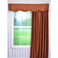 Buy cheap Swan Solid Brown Color Fake-layered Wave Window Valance and Curtains product