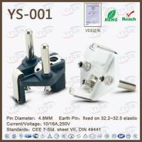 Buy cheap french plug insert(VDE plug,hollow pin power plug,ac plug) product