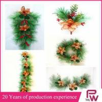 christmas tree ornament artificial green wreaths for Christmas decor