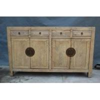 Antique Chinese natural wooden sideboard