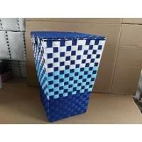 Buy cheap Colorful handmade woven plastic toy storage bins product