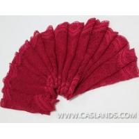 Buy cheap 2014 red lace fabric with ripple edges for garments LCJ8186 product