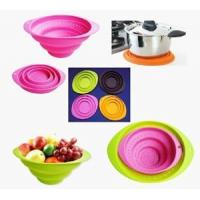 Buy cheap Hot sell silicone collapsible fruit basket / folding bowl with OEM design product