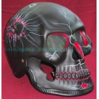 Buy cheap Black 3D Airbrush Skeleton Full Face Motorcycle Helmet product