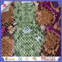 Camouflage snake skin design faux leather fabric for shoes in China product