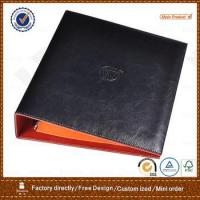Buy cheap pu leather portfolio with 3 ring metal binder for hotel product