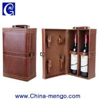 Buy cheap Two Bottle Of Whiskey Packing PU Leather Wine Box product
