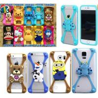 Buy cheap Christmas gift 3D cartoon universal silicone bumper case for mobile phone product