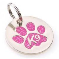 Buy cheap K9 Paw Glitter Pink Identity Tag product