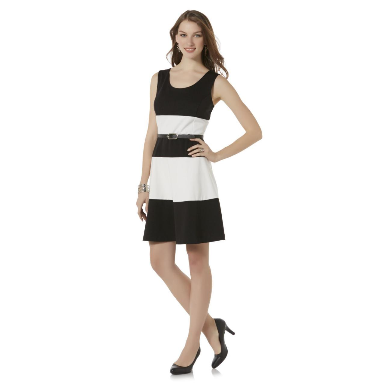 Buy cheap Covington Women's Sleeveless Belted Dress - Striped product