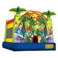 Buy cheap Tropical Island Jump Bounce House Ships within 24-72 hours via Freight Truck product