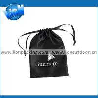 Buy cheap Black custom printed drawstring satin jewelry pouch product