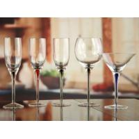 DX- 02127 Handblown Unique Colored Stem Champagne Glasses