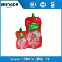 Buy cheap Beverage packaging shape pouch with spout for apple juice product