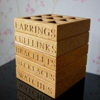 Buy cheap Personalised Oak Jewellery Tray product