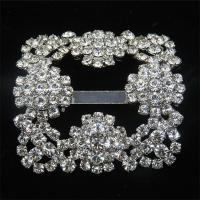 metal rhinestone shoe buckles for women's shoe ornaments