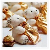 Buy cheap New creative promotion gift product wedding gift plush bear candy bag organizer product
