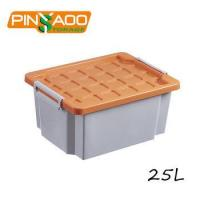 Buy cheap 25 Liter Rectangular Stackable Plastic Storage Tote Box with Lid Supplier product