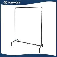 Buy cheap Metal Clothing rack for shop / Clothes display stand with 2 balls / Cloth store furniture from wholesalers