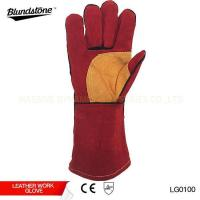 Buy cheap Reinforced Palm Leather Welding Glove product