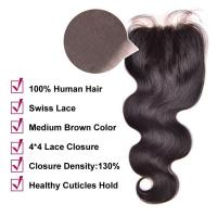 Buy cheap China hair vendor Wholesale price 4x4 lace closure baby hair around product