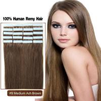 Buy cheap European Quality 100% High Standard Wholesale Tape In Hair Extension Color 8# product