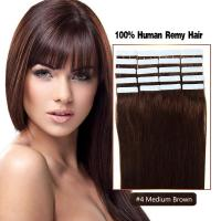 Buy cheap Top Quality Premium Virgin Human Hair Tape In Straight Hair Color 4# product