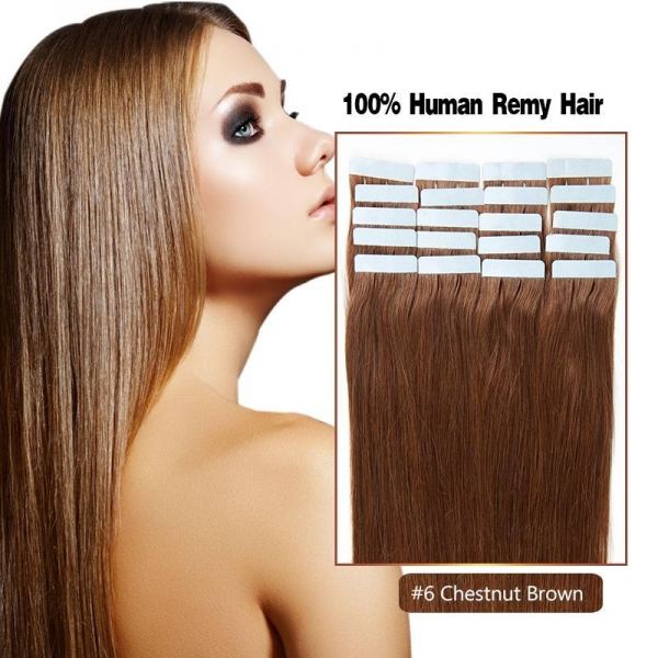 Quality Buy Wholesale Tape In Hair In China With Good Price Color 6# Human Hair Made for sale