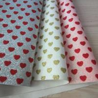 China Fine glitter fabric with love hearts for project DIY craft gift hair bows package on sale