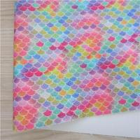 China fine glitter fabric mermaid rainbow for decoration DIY on sale