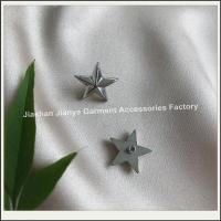 Buy cheap Silver star rivets made by clothing accessories manufacturers product