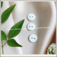 Buy cheap 2 holes white resin shirt button product