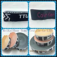 China Jacquard elastic ribbon Underwear elastic with custom logo on sale