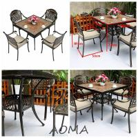 Buy cheap cast alu.chair and table cast aluminum furniture from wholesalers