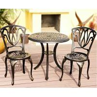 Buy cheap cast alu.chair and table cast aluminum 3 piece bistro set from wholesalers
