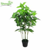 China Artificial bonsai leaves plant for home decor on sale