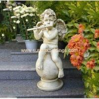 Buy cheap Garden Series SF28712A- Musical Garden Resin Large Angel Statue product