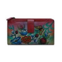 China Ladies Hand Painted Leather Clutch Purse on sale