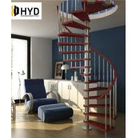 China HYD-SS036Indoor Modern Design glass spiral staircase with stainless steel balustrade on sale